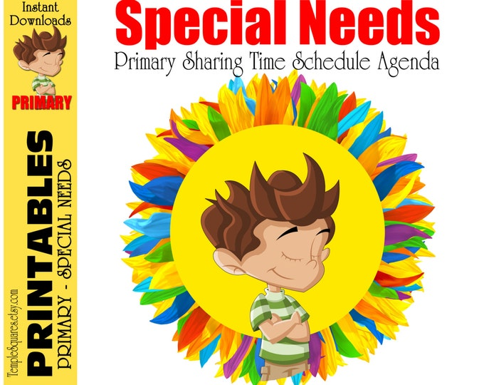 SPECIAL NEEDS - Printables - LDS Primary Visuals for Sharing Time Schedule - Easy Follow Along Timeline Pictures