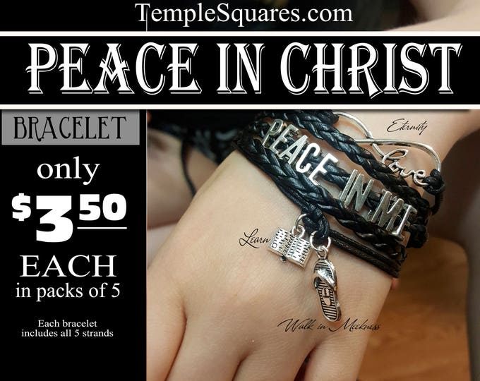 Multi strand Bracelets - Peace In Christ YW 2018 Young Women LDS Theme Jewelry Charms New Beginnings, Missionary, Christmas, Birthday gifts