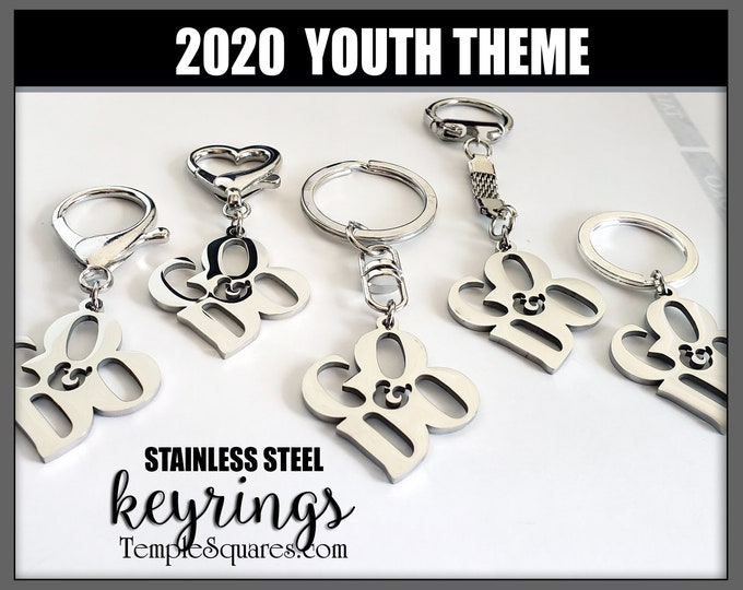 YW YM Keyrings and Clips I Will Go and Do 1 Nephi 3:7 2020 Youth Theme Young Women Men Theme Chains Birthday Keychain Key ring Keyring