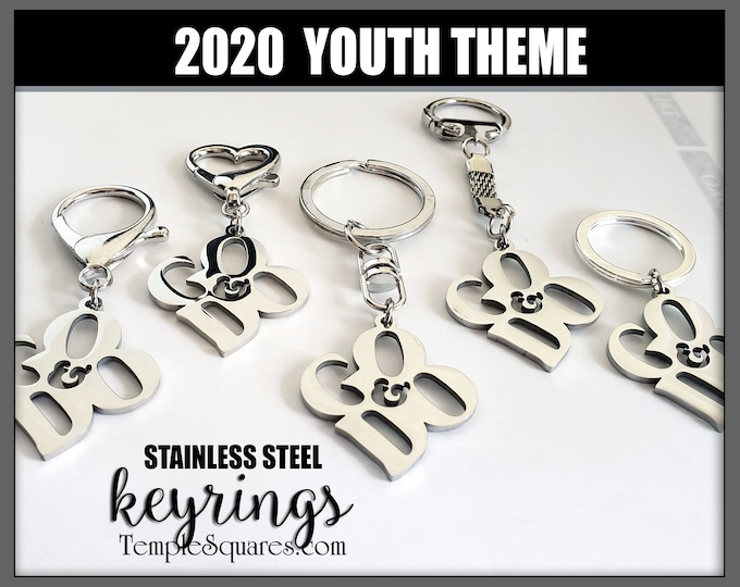 YW YM Keyrings and Clips Go and Do 1 Nephi 3:7 2020 Youth Theme Young Women Men Key ChainsBirthday Gifts LDS Keychain Key ring Keyring