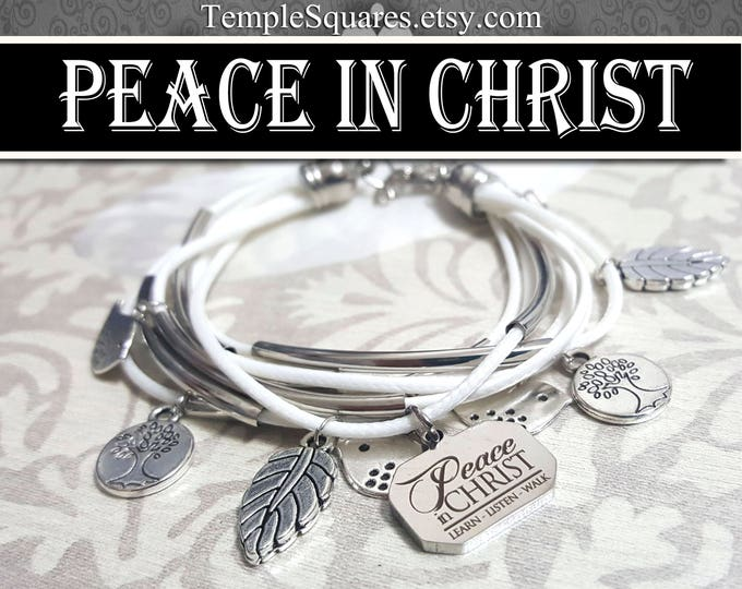YW 2018 Peace In Christ Charm Bracelet Young Women White Jewelry Charms New Beginnings gifts, birthday gift missionary LDS jewelry