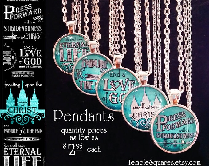 Press Forward Pendant YW Young Women Glass Jewelry for missionary gifts Relief Society Christmas Gifts, Goal Achievement Awards Mutual Theme
