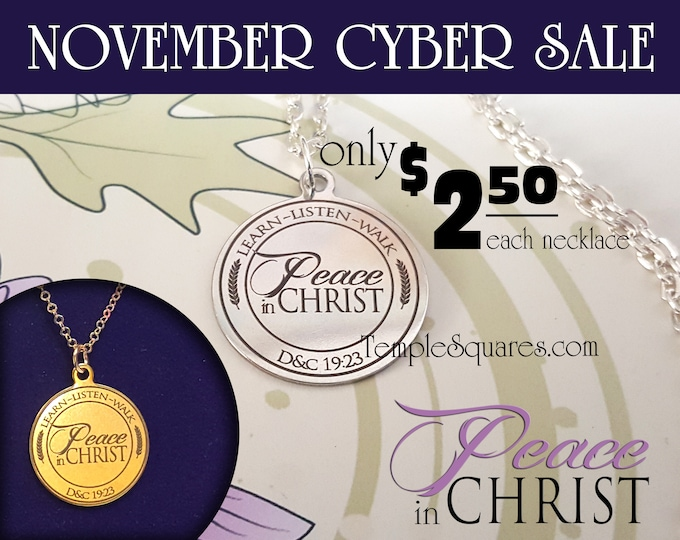 Cyber Sale YW 2018 Peace in Christ - Pendant Necklace Young Women, Engraved Stainless Steel gifts Mutual Theme Birthday Gift New Beginnings