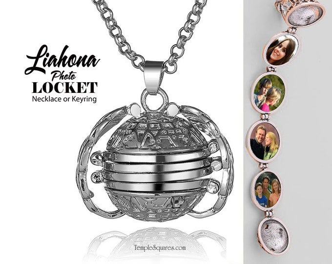 Go and Do Liahona Photo Locket Keyring or Necklace.  2020 Youth theme FSY virtual girls camp gift key chain YW YM missionary ministering