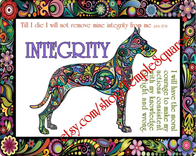 "PRINTABLE Young Women Values Personal Progress ""INTEGRITY"" 4x6, 5x7, and 8x10"