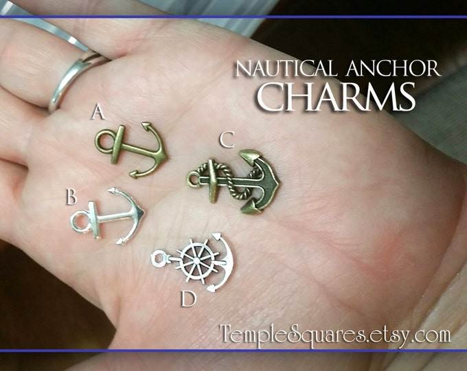 Nautical anchors and rudders charms DIY YW crafts. Pack of 10. Girls Camp, Youth Conference, Secret Sister, LDS Embark in the Service of God