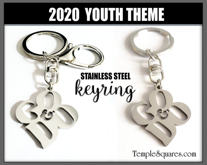 YW YM Keyring Clip I Will Go and Do 1 Nephi 3:7 2020 Youth Theme Young Women Men Theme Birthday LDS Key Chains