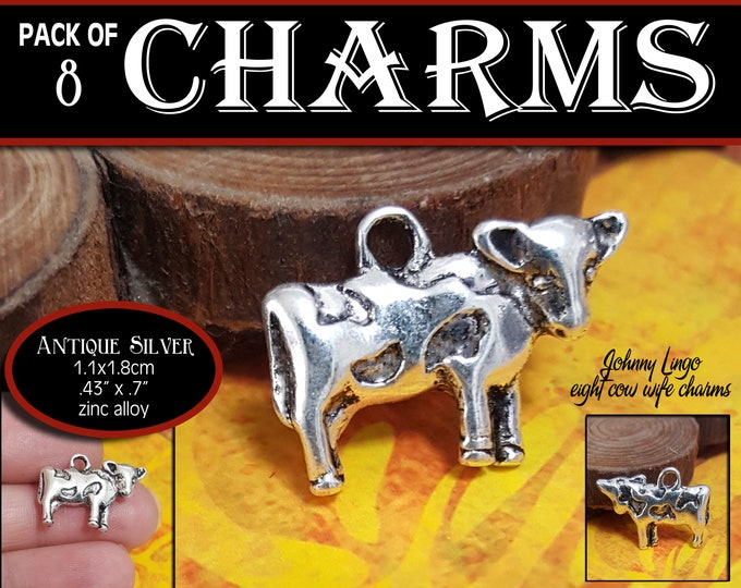 Cow Charm - Pack of 8 Charms  - Johnny Lingo Eight Cow Wife Charms for Charm Bracelet YW gift girls camp young women jewelry gifts LDS