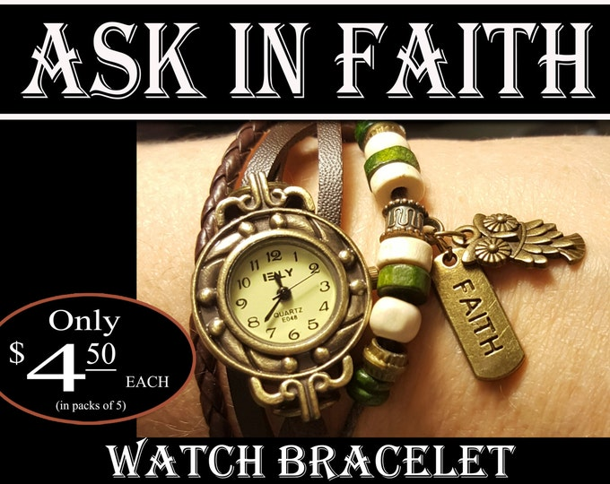 YW Ask of God Ask in Faith Charm Watch Bracelets Young Women Theme Jewelry Charms New Beginnings, Missionary, Christmas, Birthday gifts