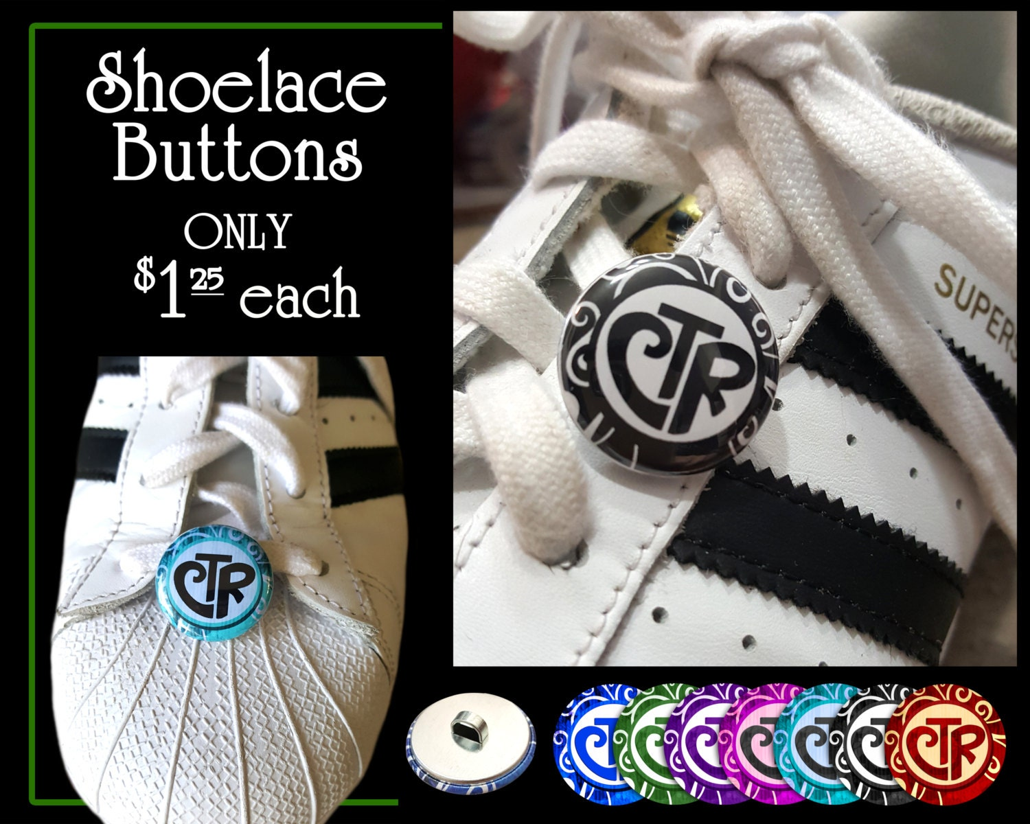 CTR Choose The Right Shoelace Button Primary Theme Birthday and ...
