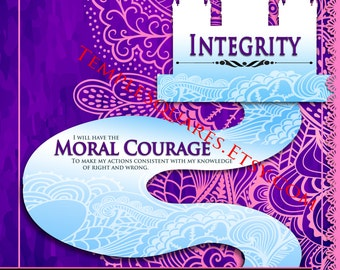 "Printable - 3 sizes! LDS Young Women Personal Progress Values ""Integrity"" Ar Instant Download Digital Files"