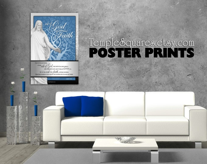 Poster prints - Large Printed Posters! LDS YW Young Women 2017 mutual theme. Ask of God Ask in Faith UV Archival Ink Christ