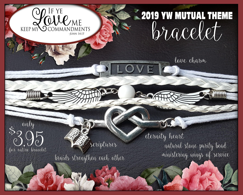 Multi strand charm Bracelet If Ye Love Me Keep My