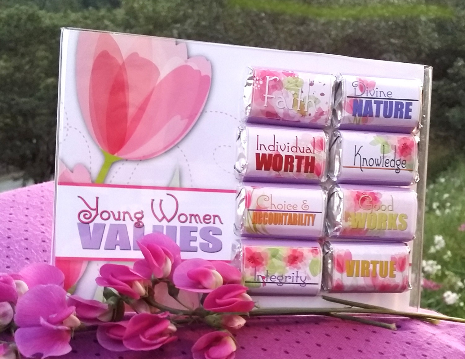 Printables Mini Candy Bar Wrappers YW Young Women Values | Etsy