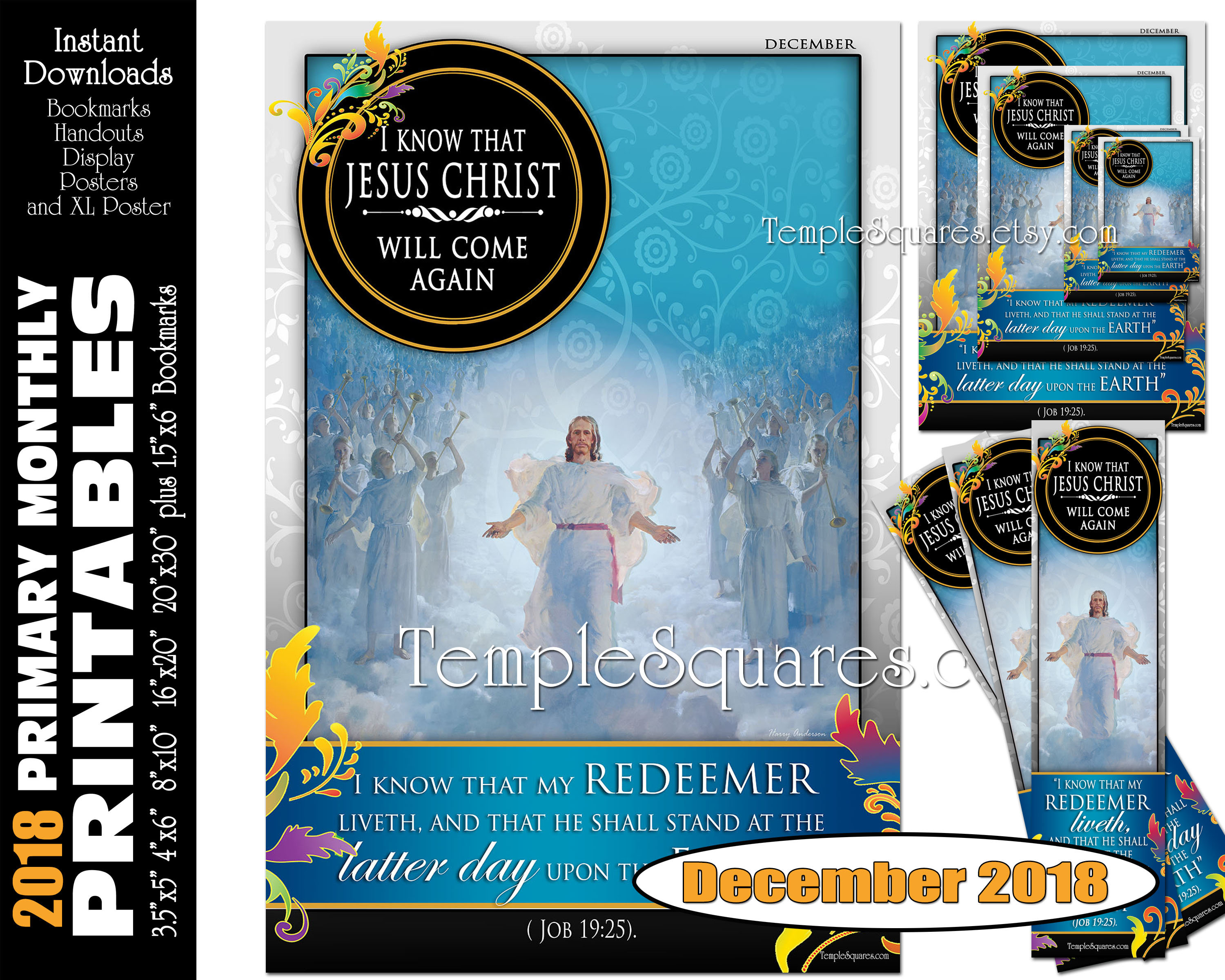 photo relating to Who I Am in Christ Printable Bookmark named Printable Simple Regular monthly Posters December 2018 I am a