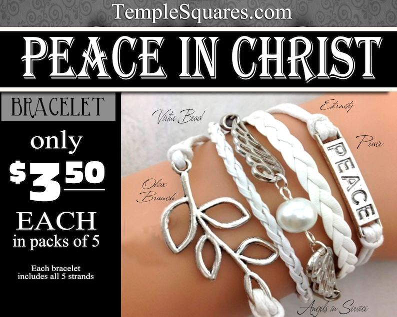 Multi Strand Charm Bracelets Peace In Christ YW 2018 Young