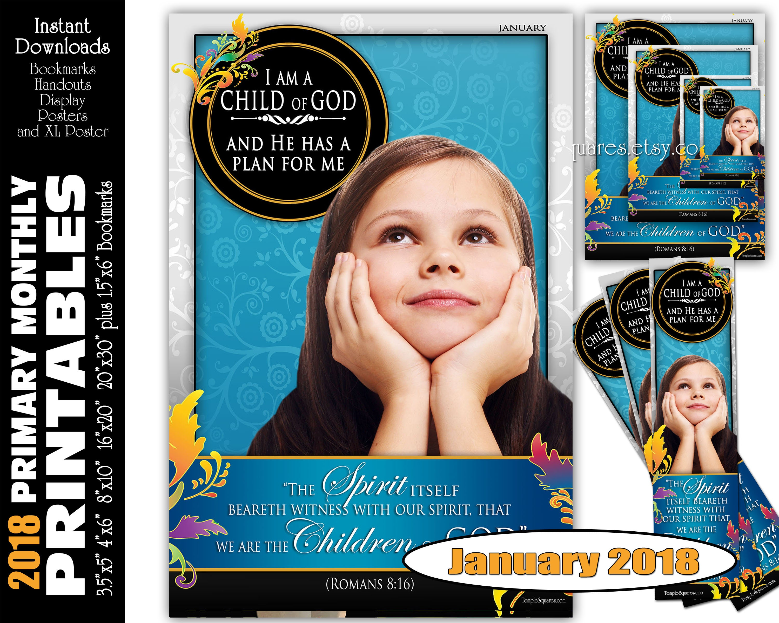 photograph regarding Who I Am in Christ Printable Bookmark known as Printable Main Every month Posters March 2018 I am a Kid of