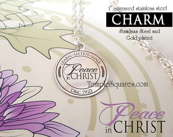 YW 2018 Peace in Christ - Pack of 10 CHARMS for Pendant Necklace Young Women, Engraved Stainless Steel Charms for YWIE, New Beginnings