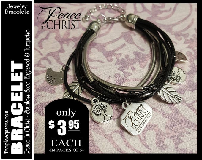 Multi strand Bracelet YW 2018 Peace In Christ LDS  Jewelry Charms New Beginnings Gifts, Birthday Gift, Girls Camp YWIE Missionary