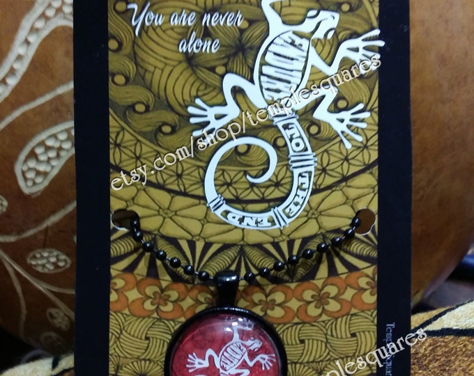 """Beautiful """"Endure To The End"""" LDS Pendant Necklaces Polynesian Style Gecko"""