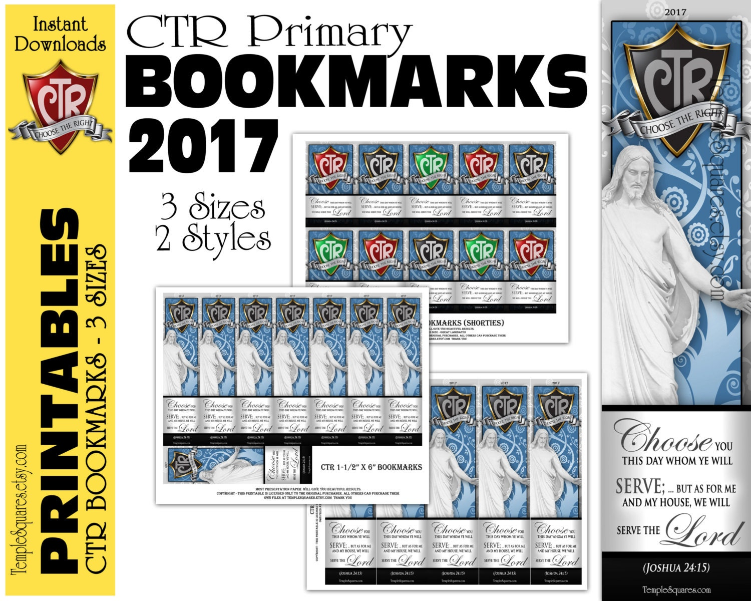 CTR Printable Primary Bookmarks Choose The Right Theme
