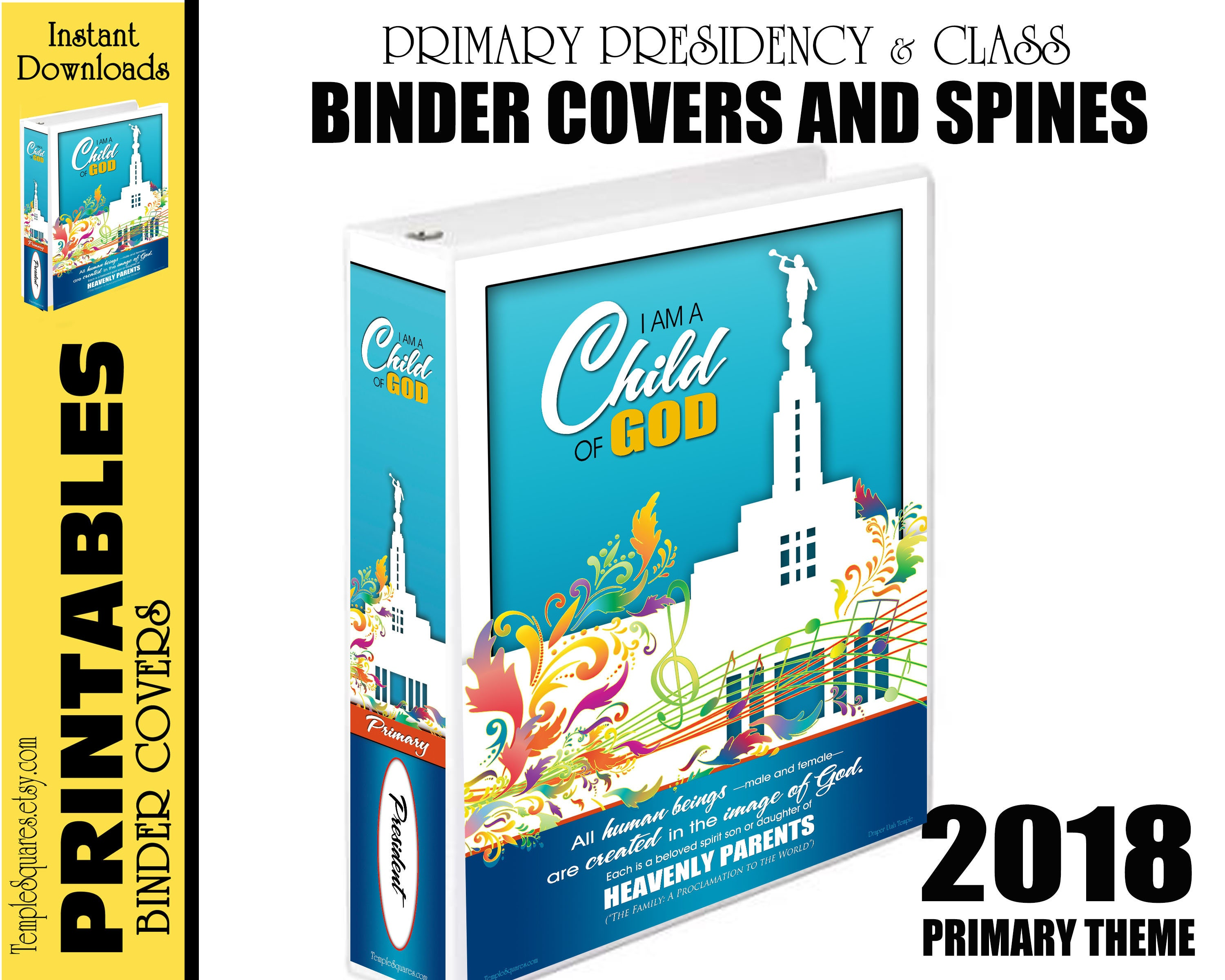 2018 Primary Printable Binder Covers for Presidency and Teachers ...