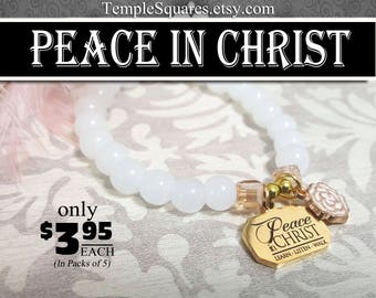 YW 2018 Peace In Christ Charm Bracelet Young Women Glass Beads Charms Jewelry New Beginnings gifts birthday gift missionary LDS jewelry