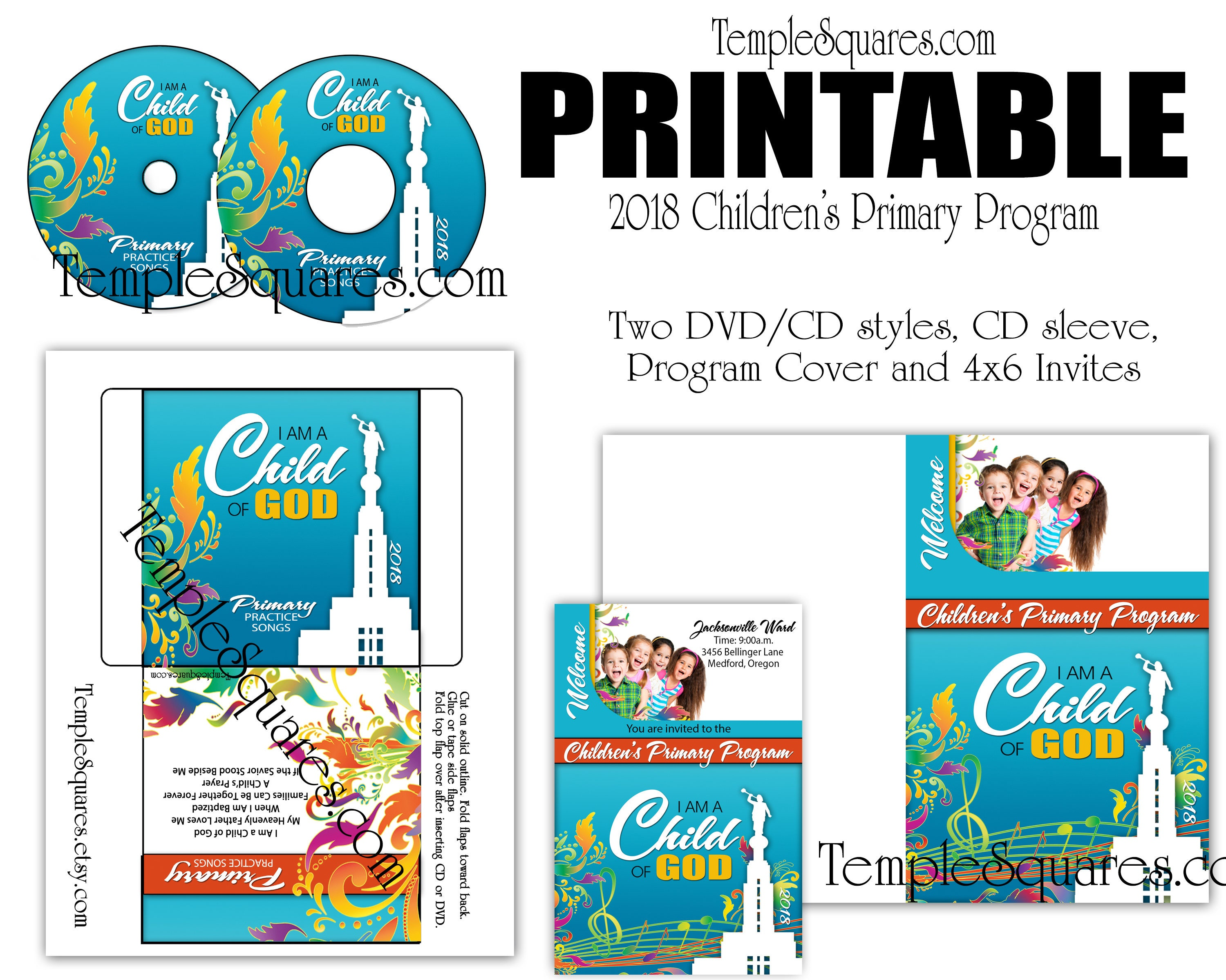 Printable Cd Labels For 2018 Children S Primary Program Songs Label