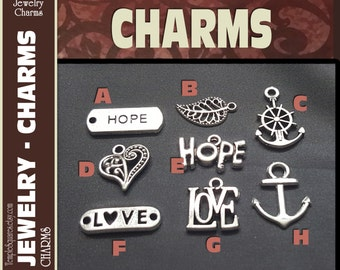 Pack of 10 Silver Color Charms for DIY Jewelry Craft Supplies for LDS or gifts, pendants, bracelets. Press Forward YW 2016 Mutual Theme
