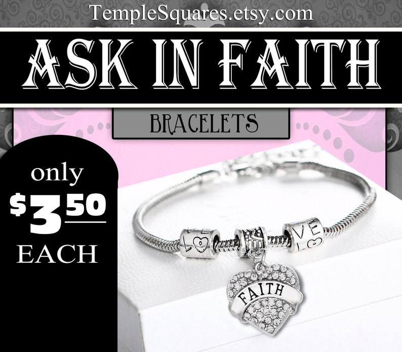 Bracelets YW Ask Of God In Faith Young Women Theme