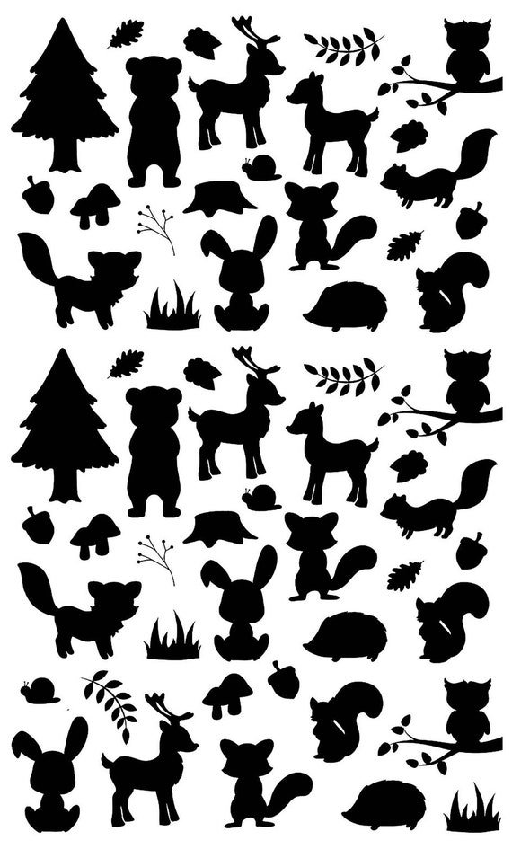 """Highland Cows 5/"""" X 7/"""" Card 36 pcs 1/"""" Black Fused Glass Decals 1086"""