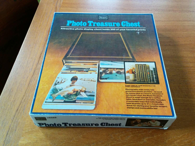 Vintage Sears Photo Treasure Chest In Original Box