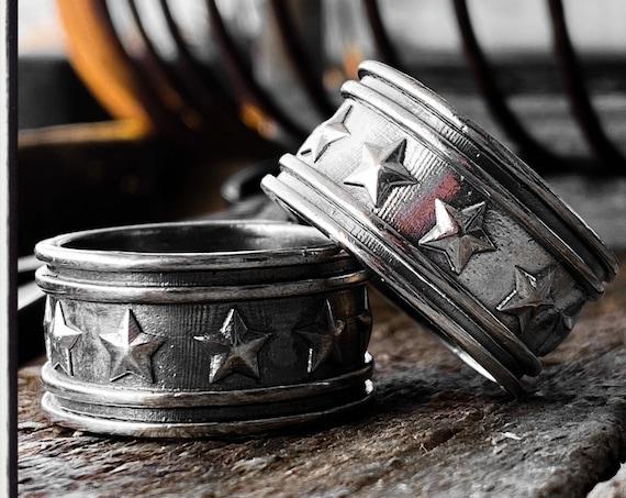 Engagement Band Ring Stars Wedding Ring Anniversary Band Ring Gold Wedding Ring Wedding Ring Engagement Ring Anniversary Ring Promise Ring