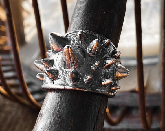 Spikes Ring Spiked Ring Thorns Ring Stud Ring Studded Ring handmade by Etherial using Pure Sterling Silver .925