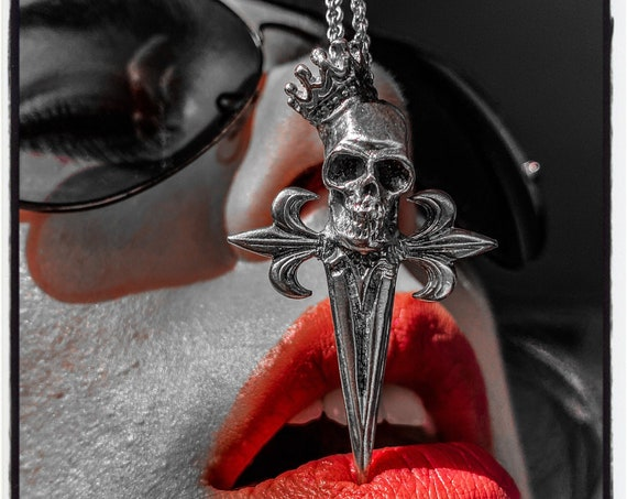 Skull Pendant Skull Necklace Skull Sword Necklace Skull Sword Pendant Dagger Pendant Dagger Necklace Knife Necklace Knife Pendant Necklace