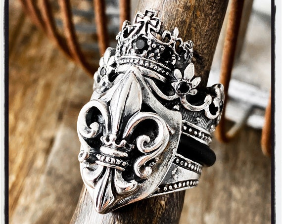 Coat of Arms Ring Fleur De Lis Ring Fleur De Lys Ring French Lilly Flower Ring Imperial Ring Royalty Ring Wax Seal Ring Wax Stamp Ring