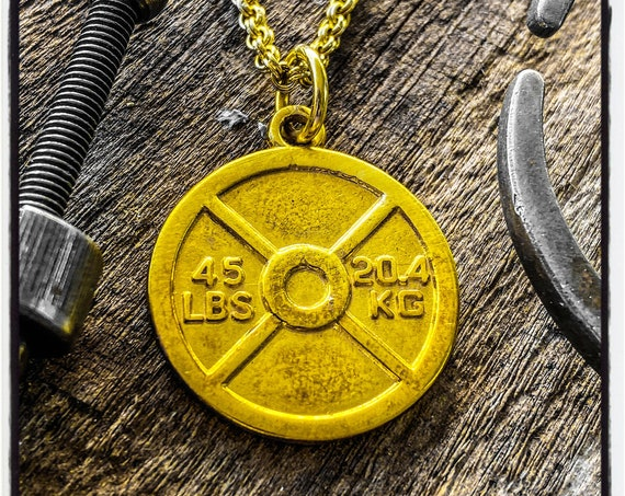 Weight Plate Pendant Weight Plate Necklace Bodybuilding Pendant Bodybuilding Necklace Gym Jewelry Bodybuilder Necklace Gym Accessories