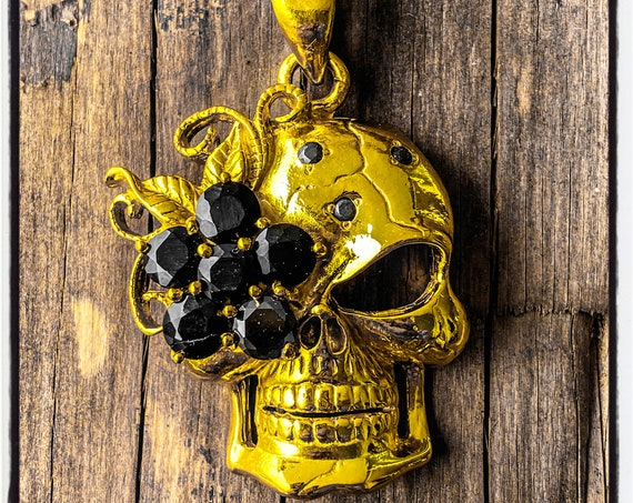 Skull Necklace Skull Pendant Memento Mori Skull Pendant Dia De Los Muertos Skull Necklace Pendant Punisher Necklace Punisher Pendant