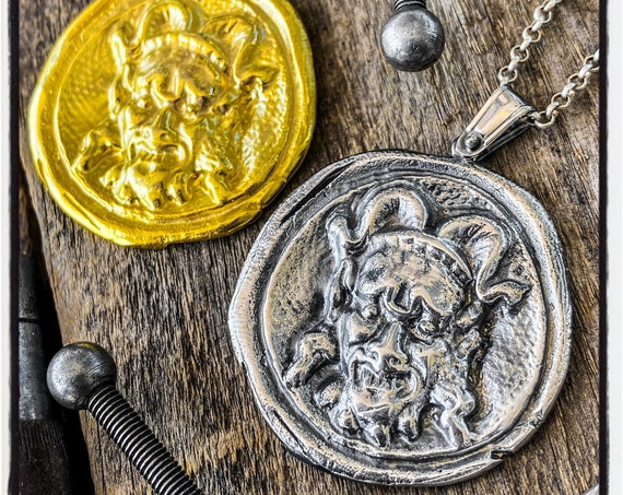 Devil Wax Stamp Pendant Devil Wax Seal Necklace Devil Seal Pendant Devil Wax Seal Wax Seal Stamp Devil Necklace Devil Pendant Satan Necklace