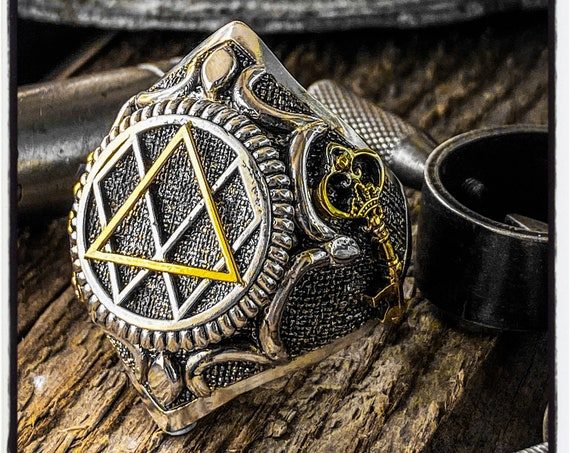 Enneagram Ring Personality Ring Human Psyche Ring Mathematical Ring Universe Ring Mathematics Ring Geometric Ring Enlightenment Mystic Ring