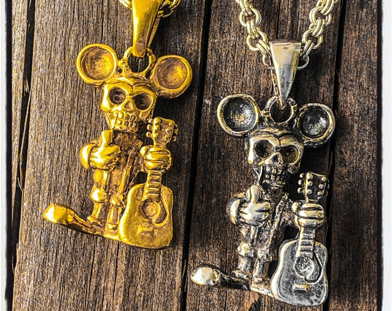 Skull Mouse Pendant Skull Mouse Necklace Mickey Mouse Pendant Mickey Mouse Necklace Hamster Pendant Hamster Necklace Field Mouse Pendant