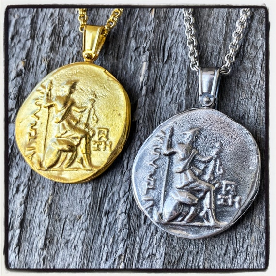 Aetolian Tetradrachm Ancient Greek Coin Necklace Hercules Pendant Hercules Necklace Wax Seal Necklace Wax Seal Pendant Antique Wax Seal Coin