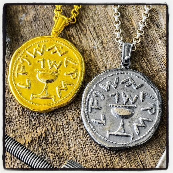 Shekel Tetradrachm Coin Pendant Jewish Coin Ancient Judea Coin Shekel Antique Coin Ancient Shekel Coin Ancient Biblical Coin Silver Shekel