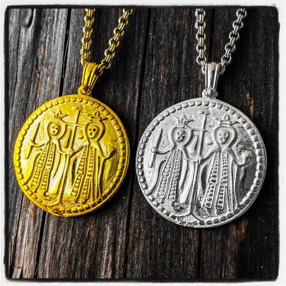 Emperor Constantine Pendant Constantine Necklace Saint Helen Pendant Saint Helen Necklace Jerusalem Pendant Jerusalem Cross Necklace Pendant
