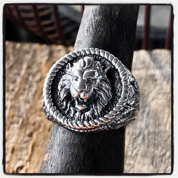 Lion Ring Sterling Silver Lion Ring Lion King Ring Gold Lion Ring Tiger Ring Gold Tiger Ring Leo Ring Mens Sterling Silver Lion Ring