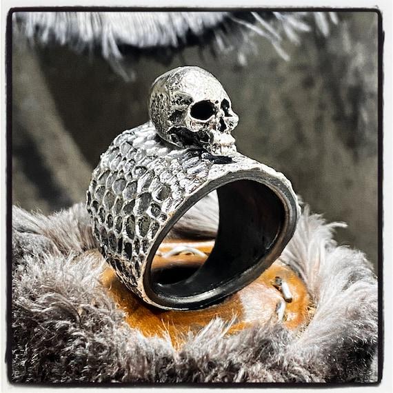 Sterling Silver Skull Ring Luxury Skull Ring Gold Skull Ring Silver Skull Ring Memento Mori Skull Ring Ring with Skull Ring with Skulls