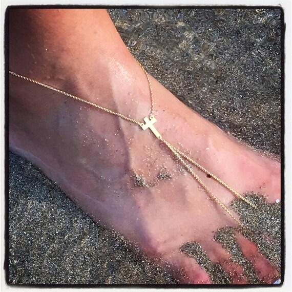 Etherial Jewelry Rock Chic Talisman Luxury Custom Handmade Artisan Pure Sterling Silver .925 Handcrafted Designer Cross Leg Foot Harness