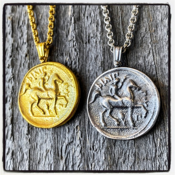 Macedonian Tetradrachm Philip of Macedonia Coin King Phillip of Macedonia Coin Necklace Ancient Greek Coin Pendant Ancient Coin Necklace