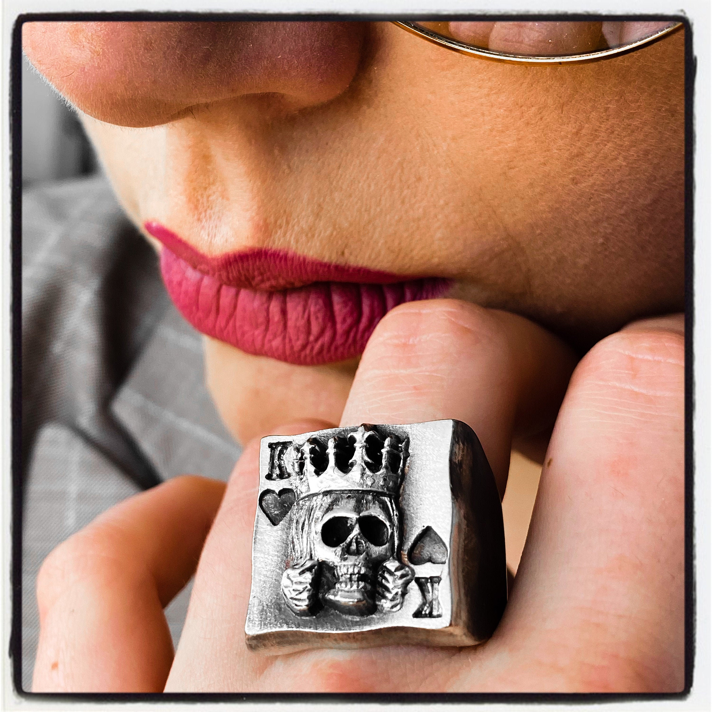 King Of Hearts Ring Poker Ring Texas Holdem Ring Wsop Ring World Series Of Poker Ring Gambler Ring Casino Ring Lucky Ring Las Vegas Ring