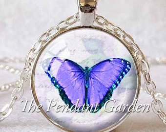 BUTTERFLY PENDANT LAVENDER Butterfly Purple Butterfly Necklace Butterfly Jewelry Lavender Insect Jewelry Butterfly Lover Gift